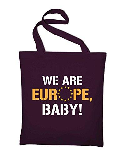 We are Europe, Baby, Brexit UK, EU, European Union Jutebeutel, Beutel, Stoffbeutel, Baumwolltasche, royalblue Bordeaux