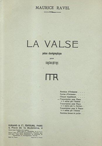 LA VALSE. Poème choréographique pour Orchestre. Transcription pour Piano à 2 mains par l'Auteur - Amazon Libri