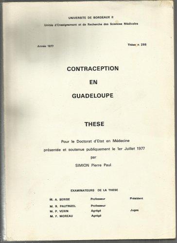 Contraception En Guadeloupe - Thèse