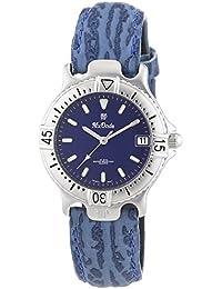 Mx Onda  - Reloj Analógico de Cuarzo para Mujer, correa de Cuero color Azul