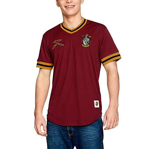 Harry Potter Herren T-Shirt Gryffindor Quidditch Team Trikot rot - S
