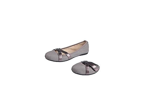 Butterfly Twists Mya Slate Grey Snake Memory Foam Flat Ballet Shoes UK 7 / EU 40 B075WF15SS