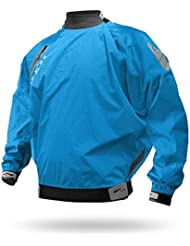 Niveles Six Kootenay Splash Top seco Chaqueta Kayak spraytop Paddler Chaqueta Remo, azul