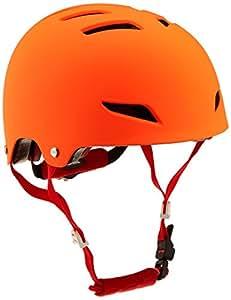 Alpina Park Junior Casque de vélo Enfant, Orange, 51–55