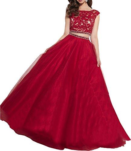 Milano Bride Elegant Royal Blau Langes Zweiteilig Abendkleider ...
