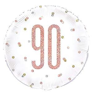 Unique Party 84909 - Globo de papel de aluminio, color oro rosa