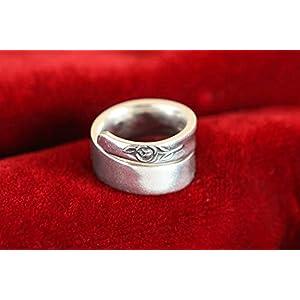 Der Besteckring mit der kl. Rose R3 – Schmuck aus Silberbesteck