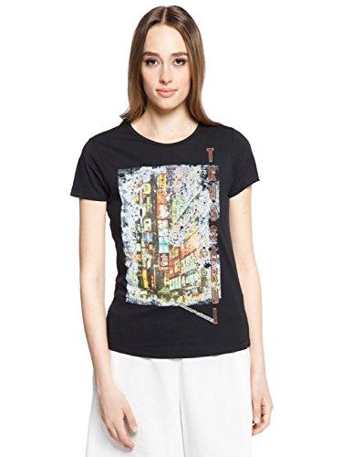Trussardi action - t-shirt donna, l, nero