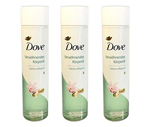 Pflegeöl Dove Körperöl Pistazie und Magnolienduft, 3 x 150 ml = 450ml