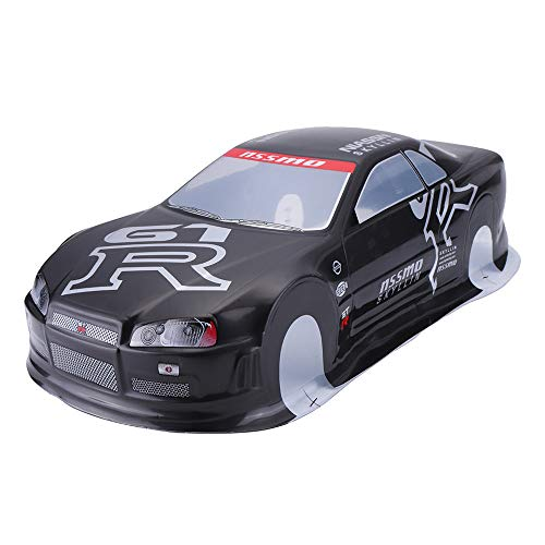 VIDOO 020Gr 190Mm Painted PVC Body Shell + Rear Wing for 1:10 Rc Drift Racing Car Model Parts