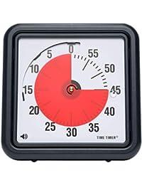Time Timer Uhr PLUS (Größe klein und groß), visueller Timer (wiederholbar), Uhr (Analog und Digital in 12- oder 24-Stunden-Format), Alarm