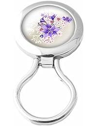 Pin cuelga gafas magnetico - Broche cuelga-gafas con iman - Modelo Lys Violet