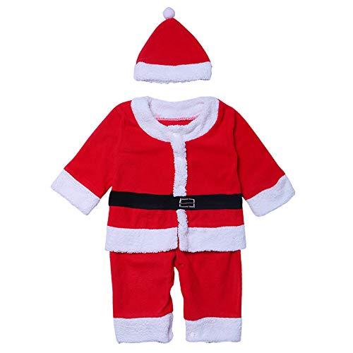 Unbekannt Weihnachts Babykleidung, Xmas Babyanzug, Kleinkind Plüsch Anzug, Weihnachts-Weihnachtsmann-Kostüm, Weihnachts ()