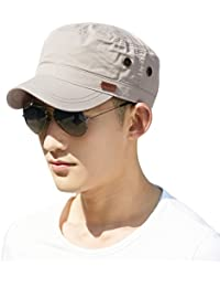 Siggi Mens 100% Cotton Classic Army Caps Military Hats Baseball Cap For Men Adjustable(5 Colours 2 Sizes 56-64CM)