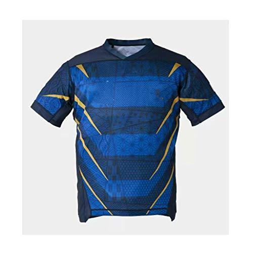 MINGDIAN Rugby-Bekleidung, Trikot Der Japanischen Fußball-Weltmeisterschaft 2019, Bequemes Und Atmungsaktives T-Shirt Mit Schweiß Absorbierender Wirkung Im Sommer (Color : Royal Blue, Size : L)