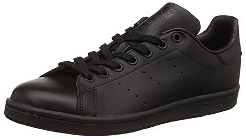 adidas Originals Stan Smith, Unisex-Erwachsene Sneakers, Schwarz (Black 1/Black 1/Black