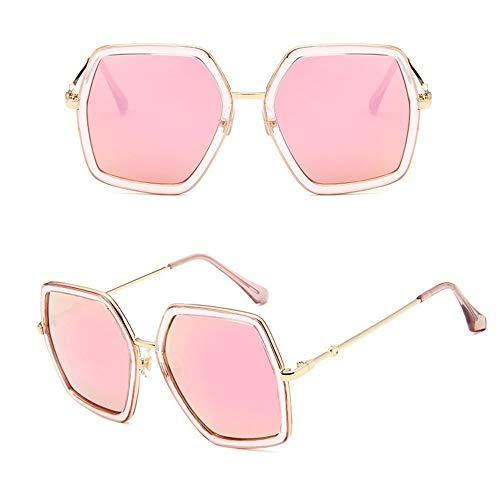 Wang-RX Mode Vintage Quadrat Sonnenbrille Frauen Retro Metallrahmen Spiegel Sonnenbrille Für Weibliche Uv400
