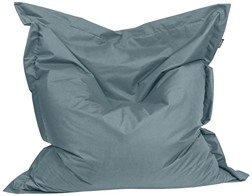 BuBiBag 1-anthrazit-180x140cm Sitzsack, Stoff, anthrazit, 180 x 140 x 20 cm
