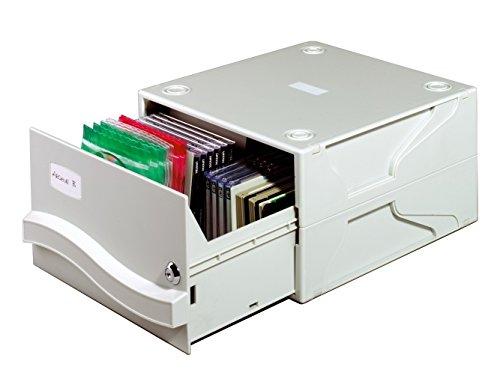 Durable 525710 Multimedia Box II (für 53 CDs/DVDs, 290 x 165 x 325 mm) grau