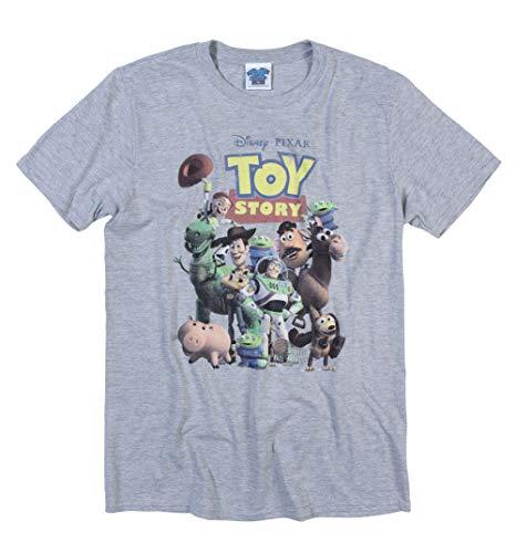 Mens Disney Toy Story Gang Sport Grey T Shirt -