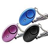 ZOCONE Persönlicher Alarm Taschenalarm 130db Alarm Schlüsselanhänger mit LED-Licht, 3 Stück Personal Alarm bietet Sicherheit für Frauen/Kinder / ältere Menschen/Mädchen / Nacht Arbeitnehmer