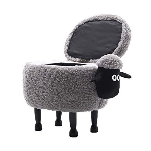 und Hocker Tiere kann Seine Lagerung abnehmbar Hocker waschbarGröße63x36x42cmFarbe Stuhl kleine Hocker Das Shaun Schuhe Kind ändert DQMSB Schaf sQdotxBhrC