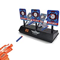 BEYOND MS Electronic Digital Target for Nerf Guns N-Strike Elite/Mega/Rival Series - Auto-Reset Intelligent Light Sound Effect Scoring Targets Toys for Boys and Girls