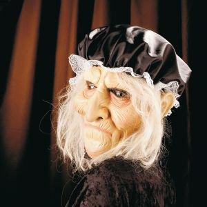 Alte mit Haube Oma Großmutter Hexe (Reiche Frau Halloween Kostüm)