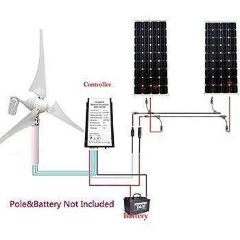 Excellent 400 Watt 12 Volt 24 Volt Wind Turbine Generator Mit Hybrid Aufladen Wiring Digital Resources Attrlexorcompassionincorg