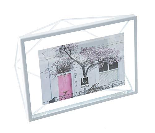 UMBRA Prisma Cadre photo filaire en métal entre deux-verres Prisma, poser ou à accrocher, Pour 1 photo 10x15cm blanc