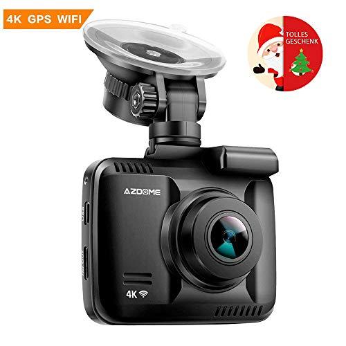 AZDOME Dash Cam GPS WiFi, Telecamera per auto 4K 2160P e Super Visione Notturna, WDR|G-Sensor|Microfono Incorporato|Registrazione in Loop|Monitor di parcheggio|Rilevatore di Movimento-GS63D
