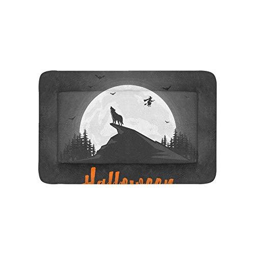 lf Heulen bei Mitternacht Vollmond Extra Große Individuell Bedruckte Bettwäsche Weiche Hundebett Für Welpen Und Katzen Möbelmatte Höhlenauflage Kissen Innen Geschenk 36 X 23 Zoll ()