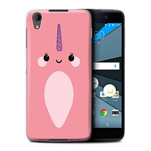 Stuff4 Hülle / Case für BlackBerry Neon/DTEK50 / Kawaii/Pink Muster / Süßes Narwal Einhorn Kollektion