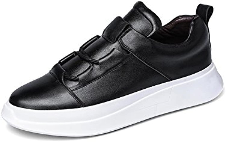 YIXINY Schuhe Sneaker Teenager Plate Schuhe Freizeit Bequem Dicke Sohlen Frühling Und Herbst Weiß / Schwarz (