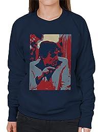 Hugh Hefner Playboy King 1981 Women's Sweatshirt