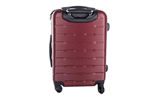 Maleta rígida PIERRE CARDIN burdeos mini equipaje de mano ryanair 4 ruedas VS18