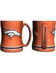 Denver Broncos Coffee Mug - 15oz Sculpted, Orange by Hall of Fame Memorabilia