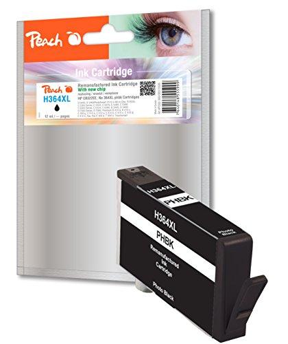Preisvergleich Produktbild Peach Tintenpatrone foto schwarz kompatibel zu HP No. 364XL, CB322EE