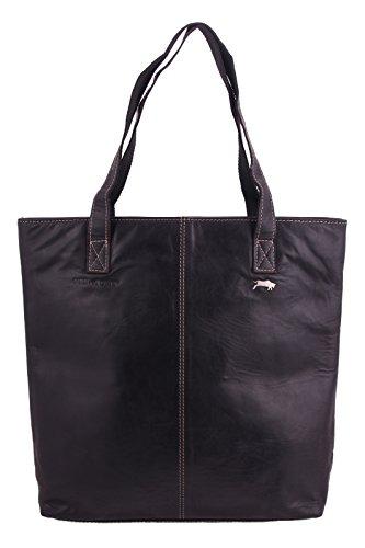 """Slingbag """"Siena"""" Shopper / Beuteltasche / Einkaufstasche aus echtem Leder / Größenauswahl / FARBAUSWAHL Schwarz"""
