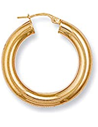 9ct Yellow Gold 28mm Hoop Earrings