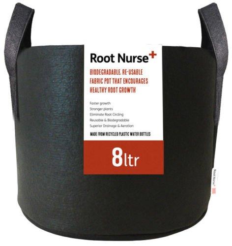 4-x-root-nurse-fabric-pot-breathable-pots-hydroponics-container-grow-bag-plant-litre-4-x-8ltr
