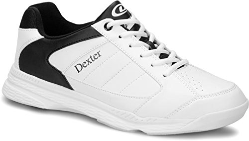 Dexter Ricky IV Bowling Schuhe für Einsteiger und Profis Größe 38-47 in 3 verschiedenen Farben (Weiß/Schwarz, 44)