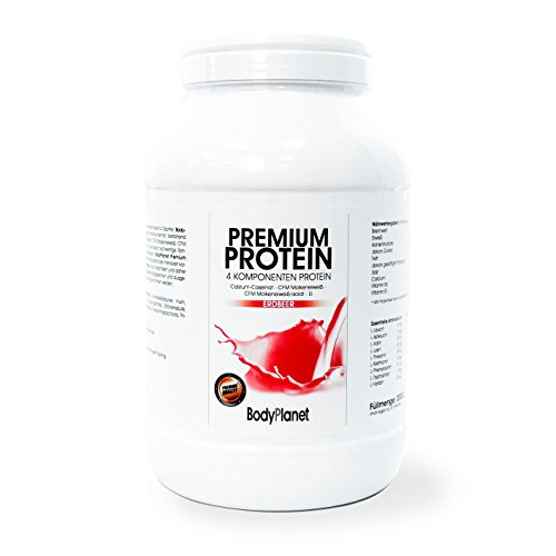 Bodyplanet Premium Protein (Vanille 2000g) ->Mehrkomponenten Eiweiß aus CFM Whey, CFM Isolat, Calzium Caseinat und Ei Protein/ für Muskelaufbau und Abnehmen/Low Carb Low Fat/ Made in Germany