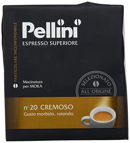 Pellini Caffè, Espresso Superiore Caffè Macinato per Moka No. 20 Cremoso - Confezione da 2 x 250 gr (500 gr)