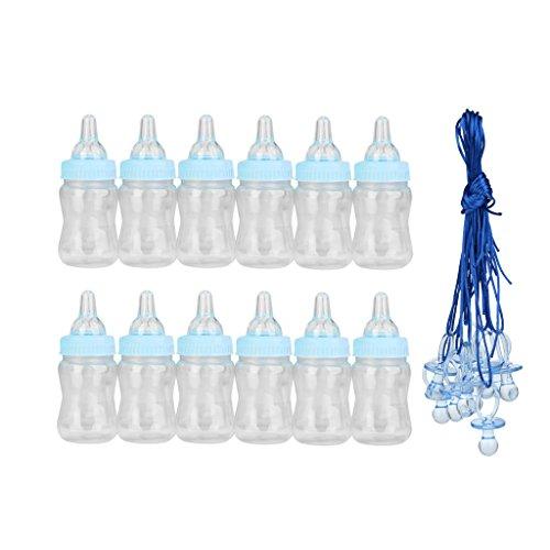 ine Befüllbare Flasche Candy Kästen Tischdeko und 10pcs Groß Baby Schnuller Halskette für Babyparty Babyshower Dusche Favor (Baby-dusche-spiel Candy)