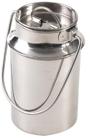 Axentia 220635 Bidon à lait en acier inoxydable avec poignée