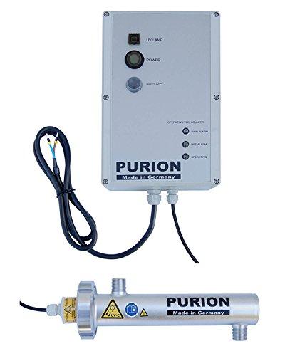 PURION 400 UV Anlage Autarke Trinkwasseraufbereitung bis 300 l/h mit UV-C-Licht 10W (PURION 400 12V mit Lebensdauerüberwachung)