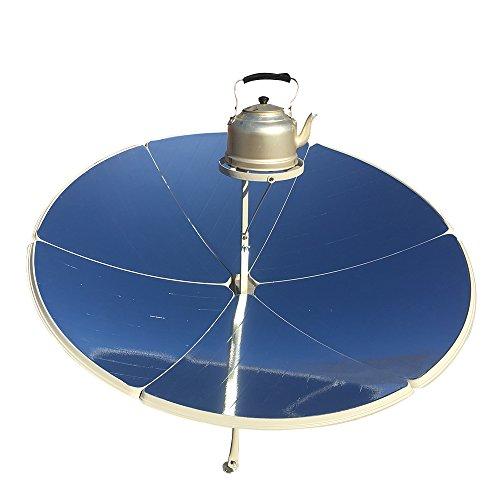 HUKOER Solarkocher 1,5 m Durchmesser 1800W tragbaren parabolischen Solarkocher mit höherer Effizienz, Solar-Ofen, Solar-Ofen, Familie verwenden Grill, sautieren und Kochen