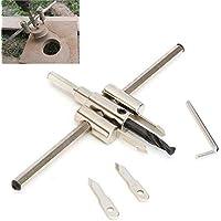 Sookg - Abridor de agujeros para carpintería de avión, tamaño ajustable, 30 – 300 mm