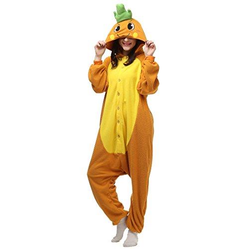 Imagen de casa onesie licorne pijamas kigurumi pijama animal unisexo para adultos con capucha traje de cosplay disfraz para festival de carnaval halloween navidad zanahoria l